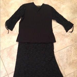 PICKDILLY Long Lined Lace Skirt w/Coordinating Top